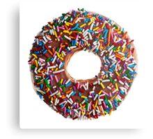 Chocolate Sprinkle Donut Metal Print
