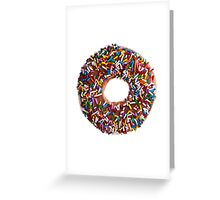 Chocolate Sprinkle Donut Greeting Card