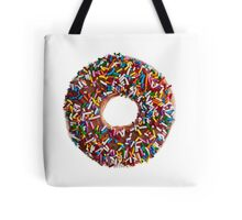 Chocolate Sprinkle Donut Tote Bag