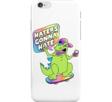 """""""Haters Gonna Hate"""" Reptar (white) iPhone Case/Skin"""