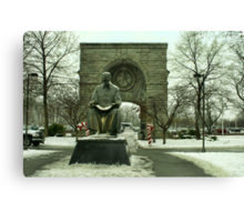 Statue of Nikola Tesla at Niagara Falls, New York Canvas Print