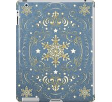 Ornate Snowflake Pattern - Blue iPad Case/Skin