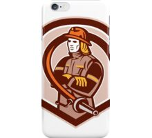 Fireman Firefighter Folding Arms Shield Retro iPhone Case/Skin