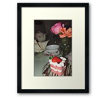 Everything I learned was over a cup of tea! Framed Print