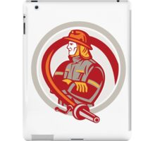 Fireman Firefighter Standing Folding Arms Circle iPad Case/Skin
