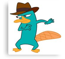 Agent P Perry the Platypus Canvas Print