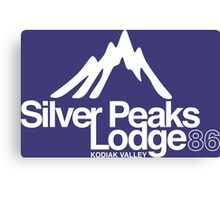 Silver Peaks Lodge Canvas Print