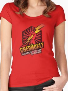 Chernolbly Energy Drink Women's Fitted Scoop T-Shirt