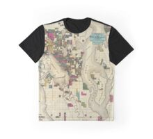 Map of Seattle 1890 Graphic T-Shirt