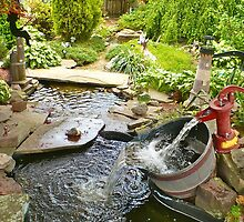 Our Neighborhood Fountain by CarynAnneDesign