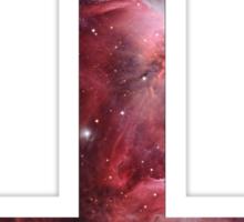 Upside down Cross Galaxy Sticker