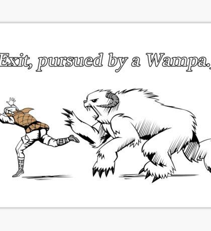 William Shakespeare's Star Wars: Exit, pursued by Wampa Sticker