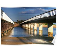 Between the Bridges at Barwon Heads Poster