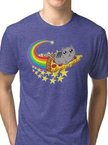 Pizza cat Tri-blend T-Shirt