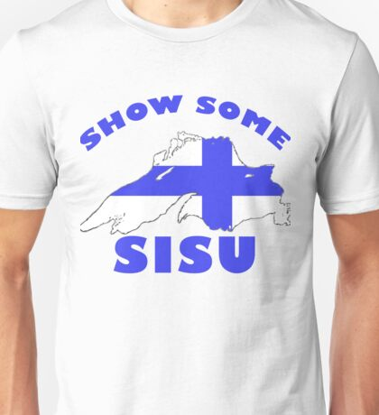 SISU Lake Superior USA CANADA Finnish Heritage Unisex T-Shirt
