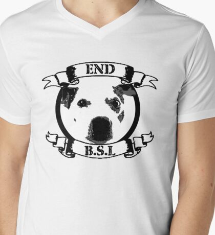 End BSL Dog Logo Mens V-Neck T-Shirt