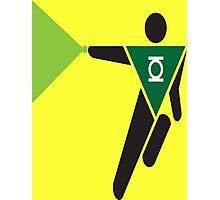 Green Lantern Pictogram Photographic Print