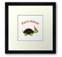 Party Animal - Turtle Framed Print