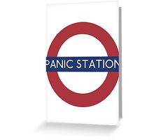 Panic Station Greeting Card