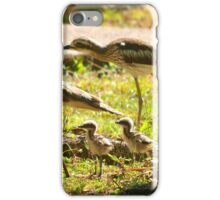 Curlews and young at Wonga Beach Queensland  iPhone Case/Skin