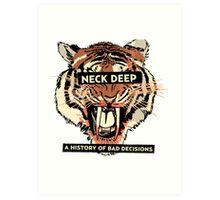 A History of Bad Decisions - Neck Deep Art Print