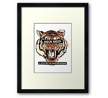A History of Bad Decisions - Neck Deep Framed Print