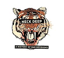 A History of Bad Decisions - Neck Deep Photographic Print