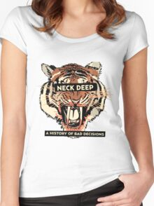 A History of Bad Decisions - Neck Deep Women's Fitted Scoop T-Shirt