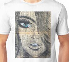 Blue eyed girl painting Unisex T-Shirt