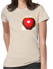 Shining red apple  Womens Fitted T-Shirt