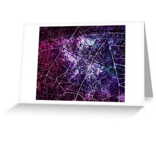 Purple, Blue, and Red Crackle Grunge Texture Greeting Card