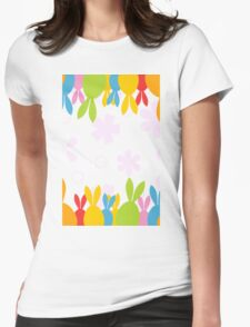 Easter hares Womens Fitted T-Shirt
