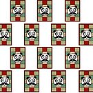 Mustache Panda 2 (Pattern) by Adamzworld