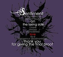 Sentiment and final proof by morigirl