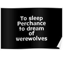To sleep Perchance to dream of werewolves Poster