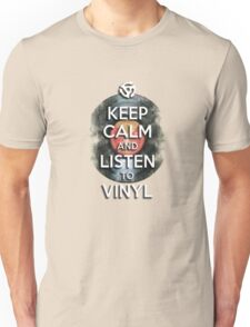 Keep Calm and Listen to Vinyl Unisex T-Shirt