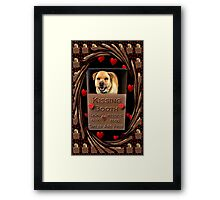 KISSES COME AND GET YOUR KISSES-CANINE-DOG KISSING BOOTH-PILLOW-TOTE BAG-IPHONE CASE-TABLETS Framed Print