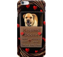 KISSES COME AND GET YOUR KISSES-CANINE-DOG KISSING BOOTH-PILLOW-TOTE BAG-IPHONE CASE-TABLETS iPhone Case/Skin