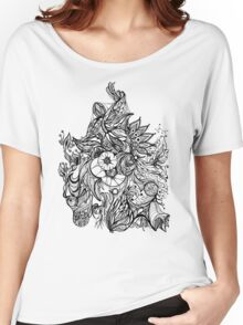 Zen Doodle 3A Black Ink Women's Relaxed Fit T-Shirt