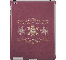 Ornate Snowflake Pattern - Red 2 iPad Case/Skin