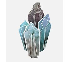Light Watercolor Crystals Photographic Print