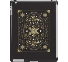 Ornate Snowflake Pattern - Black 2 iPad Case/Skin