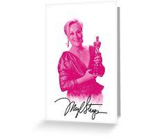 Meryl Streep with her third oscar Greeting Card