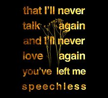 Lady Gaga - Speechless by anemophile