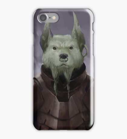 Space Devil Dog iPhone Case/Skin