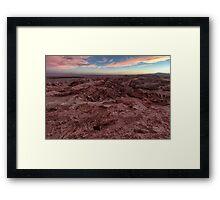 Atacama sunset  Framed Print