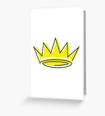 crown Greeting Card