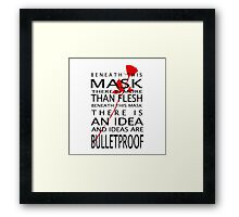 Bullet-Proof Ideas Framed Print