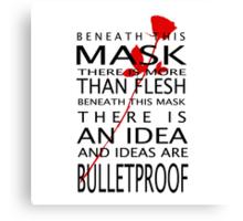Bullet-Proof Ideas Canvas Print