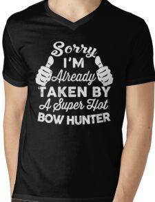 Sorry I'm Already Taken By A Super Hot Bow Hunter T-Shirt Mens V-Neck T-Shirt